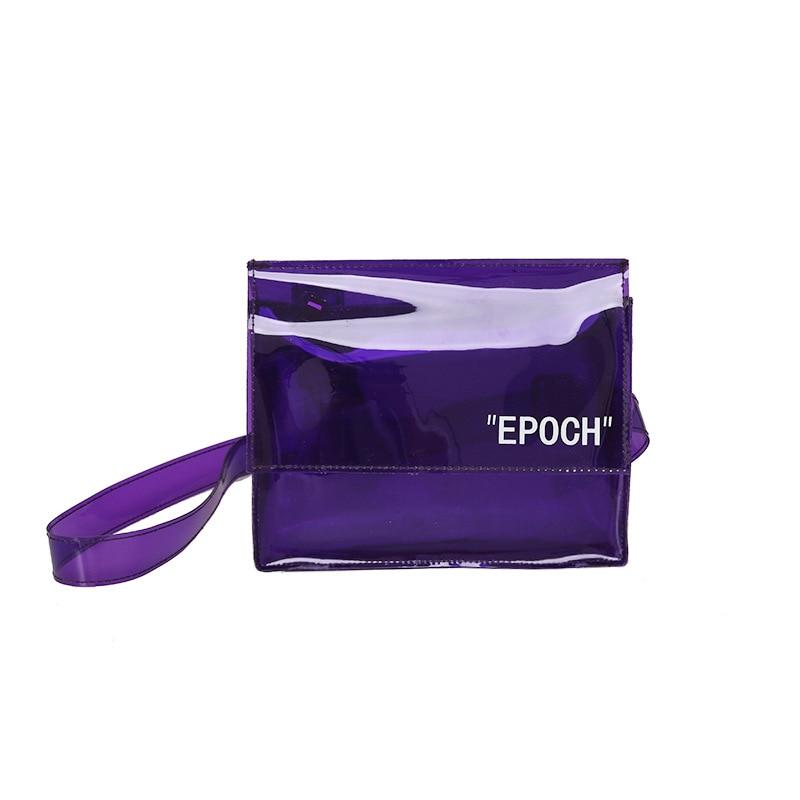 Waist Bag Women Belt Small Bag Waist Pack Belt Wallets Fanny Chest PU Leather transparent Bags Messenger minimalist Mobile phone