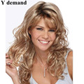 Synthetic Wigs Periwig Blonde Wig With Bangs Long Wavy African American Wigs For Women Afro Wavy Haircuts