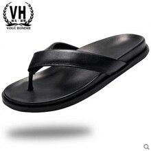 รองเท้าแตะชายฤดูร้อนรองเท้ารองเท้าผ้าใบรองเท้า... cowhide ชายหนังแท้รองเท้าแตะชายทั้งหมดตรงกับ