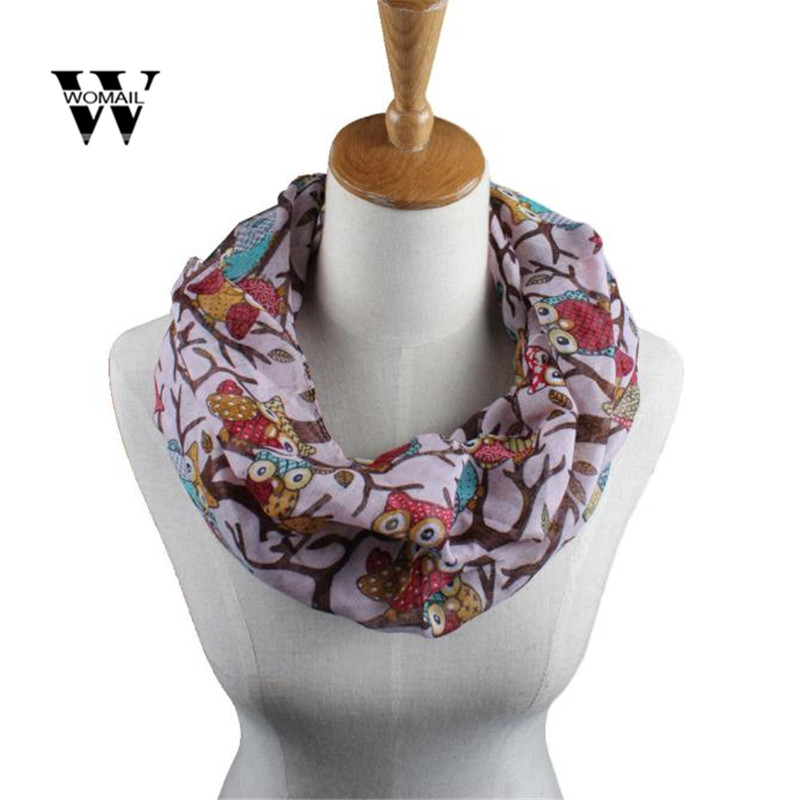 Fashion Women Ladies Owl Pattern Print   Scarf   Warm   Wrap   Shawl Ring Warm   Wrap   Shawl Winter Warm Spring Dec 5