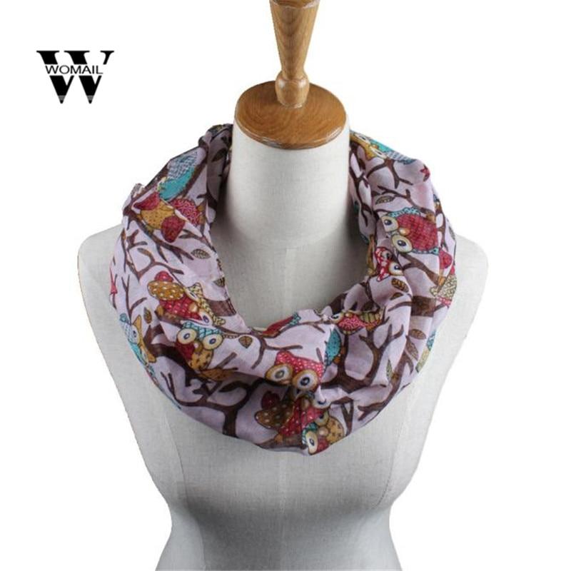 Fashion Women Ladies Owl Pattern Print   Scarf   Warm   Wrap   Shawl Ring Warm   Wrap   Shawl Winter Warm Spring Dec 5