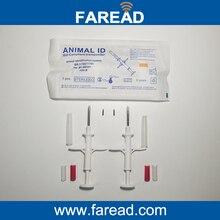 Melhor venda x100pcs microchip seringa com tag RFID vidro Animal ID 1.4*8mm para peixe/rato pequeno animal withFree Codificação
