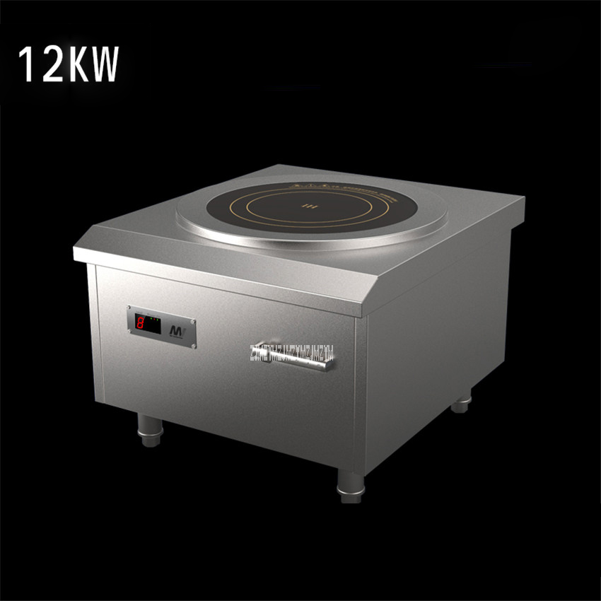 380V/50hz SCR 3012 Commercial Induction Cooker Low Soup High Power Planar Induction Cooker 12kw Hotel Cafeteria Soup Furnace