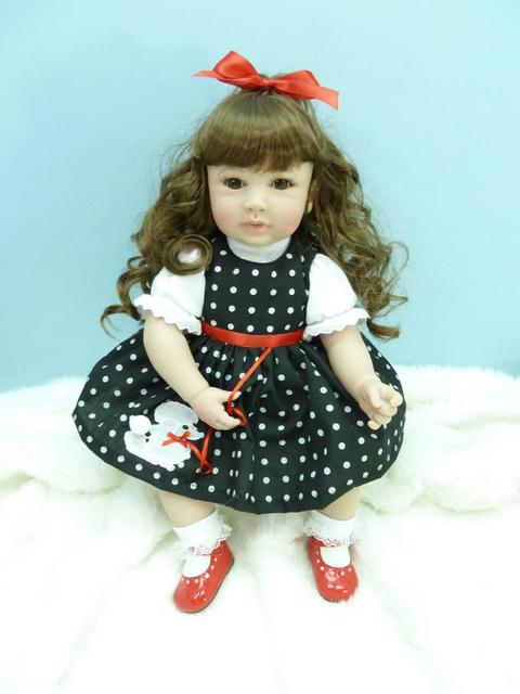 About 50cm Silicone Vinyl Reborn Baby Doll toys Brinquedos accompany sleeping girl lifelike soft doll for