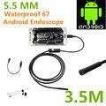 Endoscopio Endoscopio USB inspección Android HD cámara 6 LED 5.5 mm lente 720 P impermeable del coche Endoscopio mini cámara 3.5 M