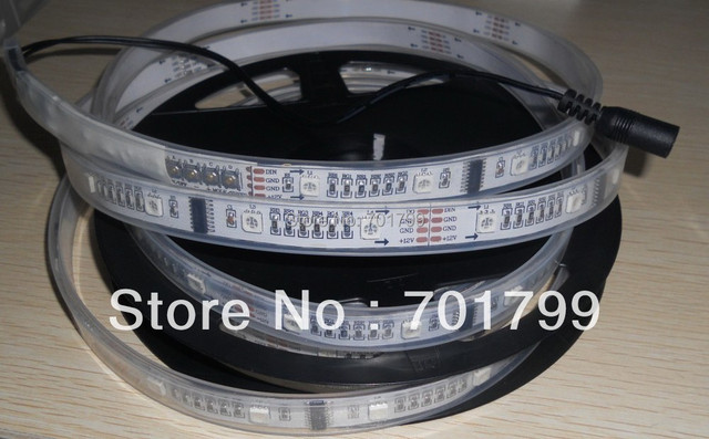 TM1812 strip with embeded controller,5m DC12V 30leds/m 8pcs TM1812 IC/meter(32pixels) led digital strip,in silicon tube