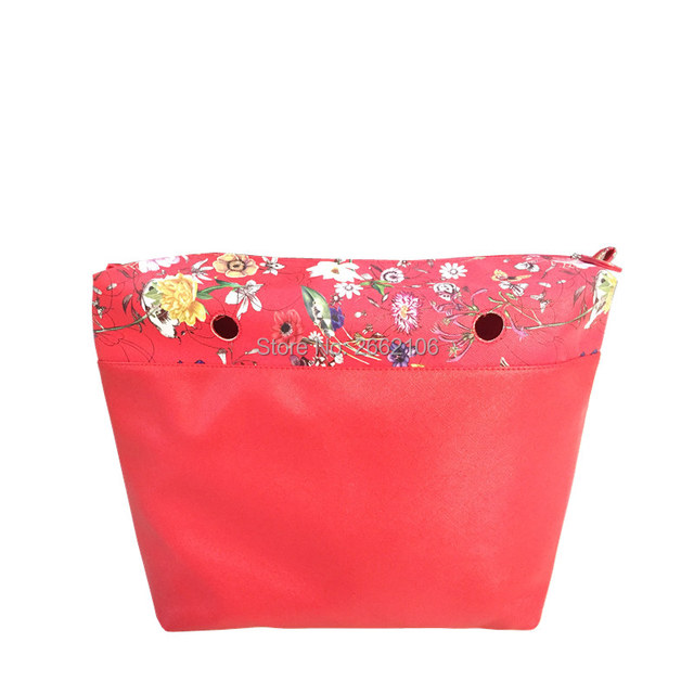red flower insert for classic size t o te bag