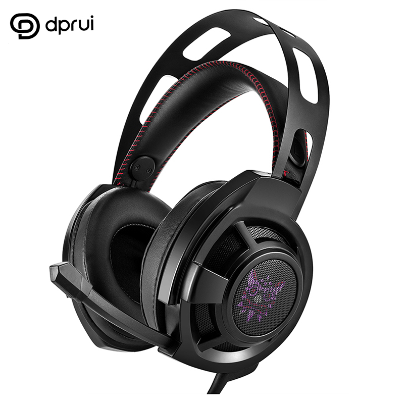 DPRUI Gaming Headset PS4 Headset Active Noise Cancelling Computer Game Headphones with mic for PC New Xbox One Tablet oneodio stereo gaming headset for phone pc computer headphones with mic over ear noise cancelling for pc ps4 xbox mobile