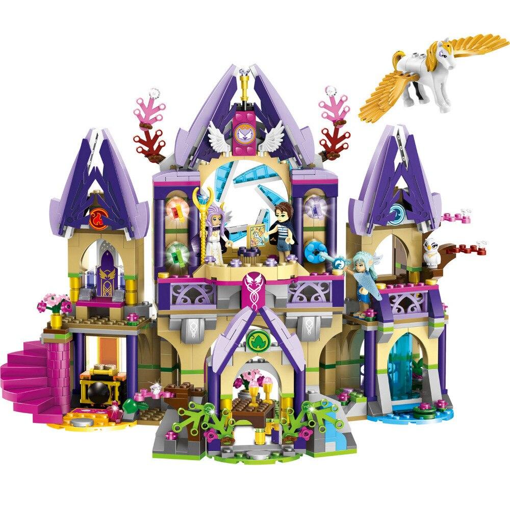 Bloc de jeu de construction Chiffres Petites Particules Briques Mystérieux Ciel Château