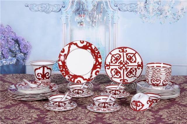 leal lujo vajilla de porcelana para amistad negocio oficina regalo decoracin del hotel casa vajilla de