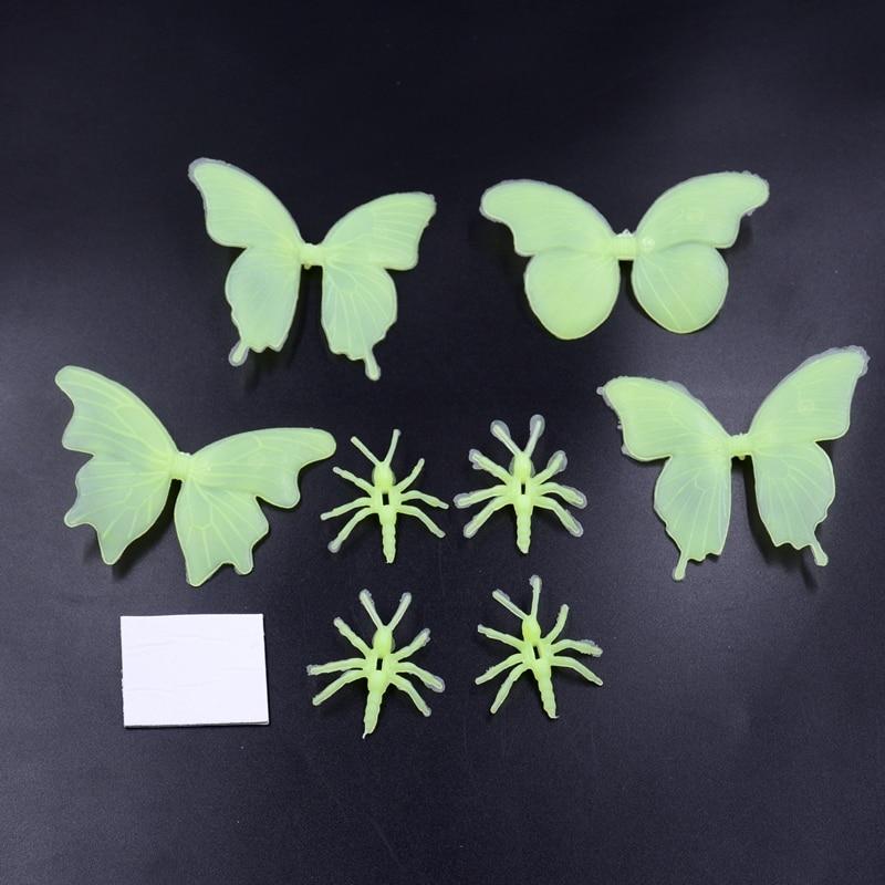 8 stücke Schmetterlinge Und Ameisen Lagerung Fluoreszierend Leuchtenden  Aufkleber Für Weihnachten Festival Schlafzimmer Dekoration Kinder Insect ...