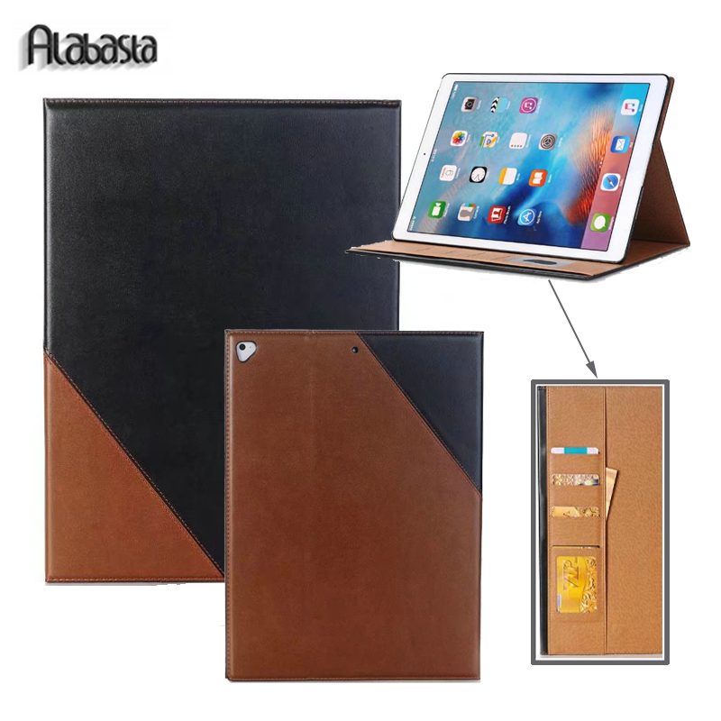 Case for iPad Pro 10.5 Alabasta PU Leather Business Folio Stand Pocket pouch Auto Wake Smart Cover for iPad Pro 10.5 inches pen case for ipad air1 alabasta pu leather