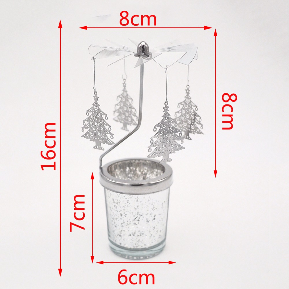 Fairy-Tale-Rotary-Spinning-Tealight-Candle-Metal-Tea-Light-Holder-Carousel-Romantic-Rotation-Candlestick-Home-Decor