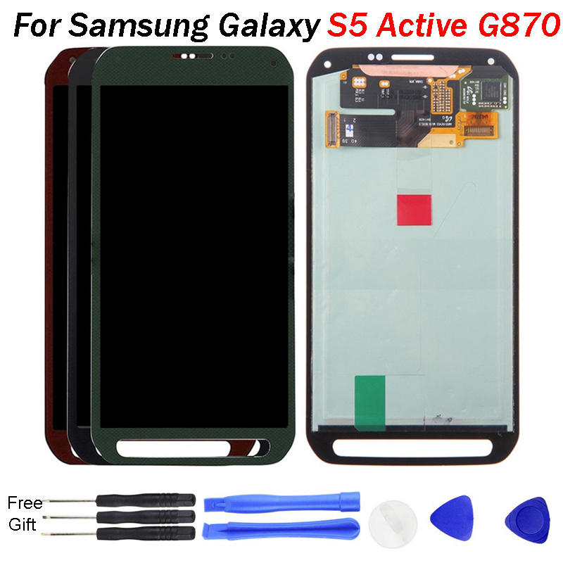 For Samsung Galaxy S5 Active <font><b>G870</b></font> LCD Display Touch Screen Digitizer Assembly Replacement For SAMSUNG <font><b>G870</b></font> Display image