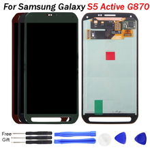 S5 Active LCD Display For Samsung Galaxy S5 Active G870 LCD Display Touch Screen Digitizer Assembly Replacement For SAMSUNG G870 original genuine lcd screen display with touch digitizer assembly for samsung galaxy s5 active g870a g870 ship by dhl ems