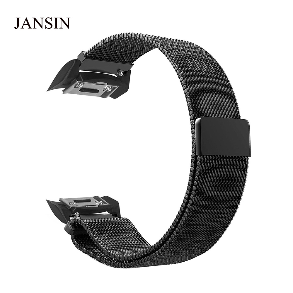 JANSIN 20mm Milanese Loop strap For Samsung Gear S2 Stainless steel Magnetic Sports Band For Samsung Gear S2 watch band sports gym arm band case for samsung i9100 galaxy s2 black orange