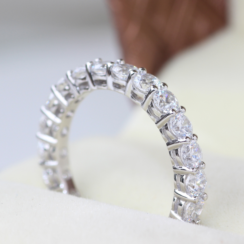 ring channel band bands in set carat platinum anniversary diamond