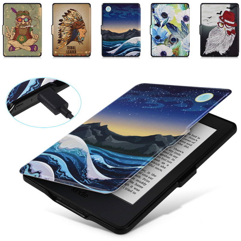 Smart Case for Kindle Paperwhite, eReader Magnet Auto Wakeup/Sleep,Lighted Slim Leather Cover Fit Kindle Paperwhite 2012~2015,K5 kindle paperwhite 1 2 3 case e book cover 2017 magnetic pu leather smart case for kindle paperwhite 3 cover 6 auto sleep wake