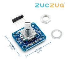 Поворотный модуль кодировщика для Arduino Кирпич Датчик развития аудио вращающийся Потенциометр ручка EC11