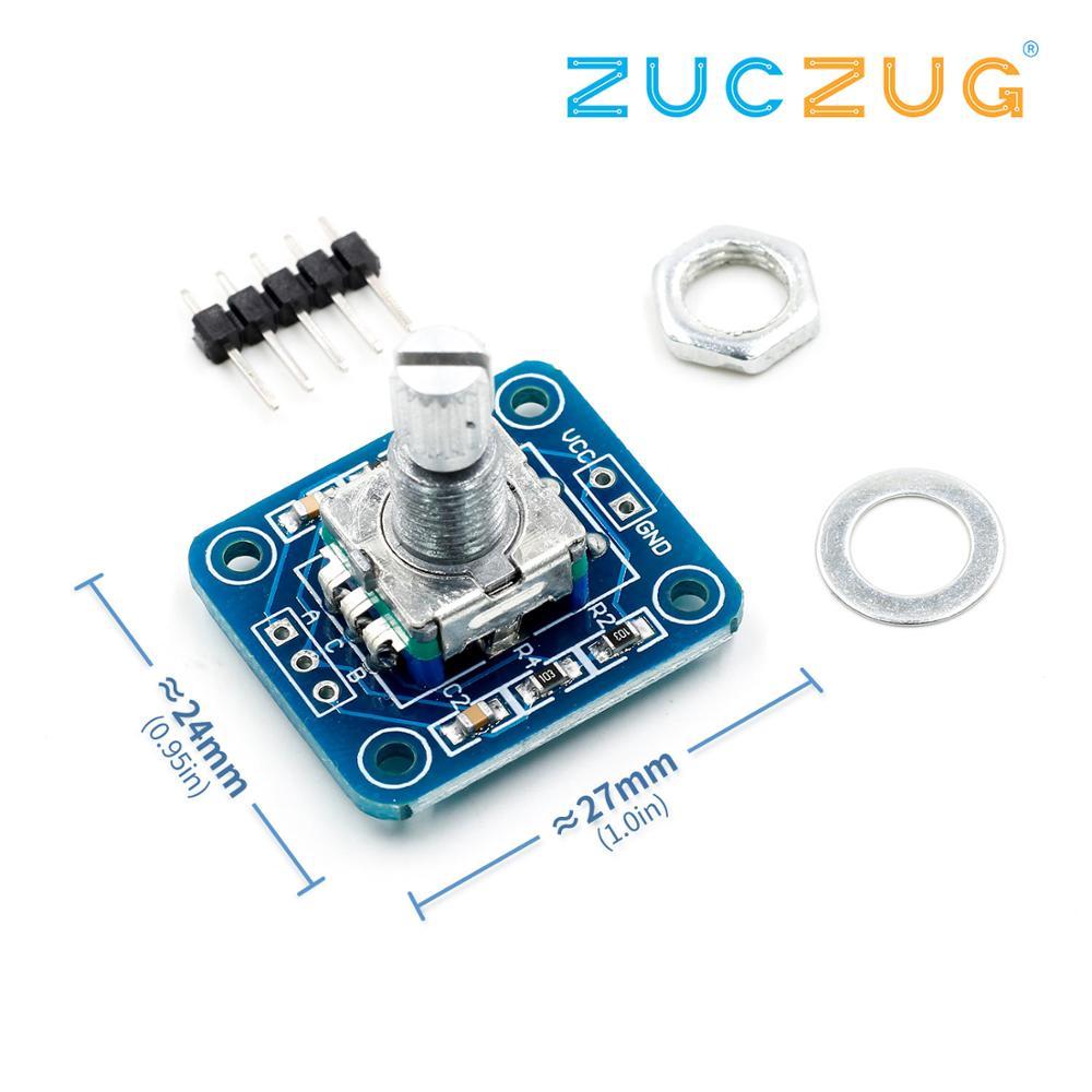 Rotary Encoder Module For Arduino Brick Sensor Development Audio Rotating Potentiometer Knob EC11
