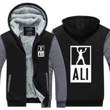 Neue winter hoodies männer muhammad ali jacke fitness casual clothing mma verdicken reißverschluss mantel der männer usa eu größe plus größe