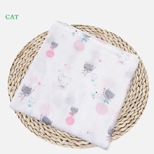Muslin Baby Blankets Bedding Props Infant Cotton Swaddle Towel Multifunctional Envelopes For Newborn Soft Receiving