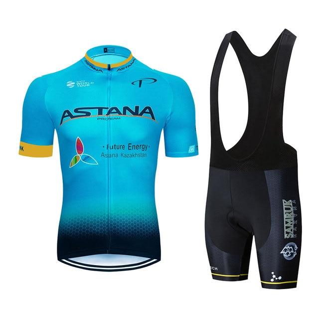 Astana Cycling Jersey Shirt...