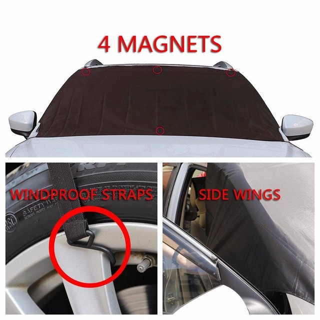 Car Magnet Windshield Cover Sunshade Ice Snow Frost Protector styling