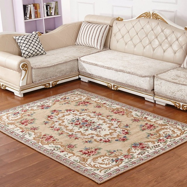 European Style Home Room Carpets /rugs For Living Room Tea Table Bedroom  Bed Mat Carpet