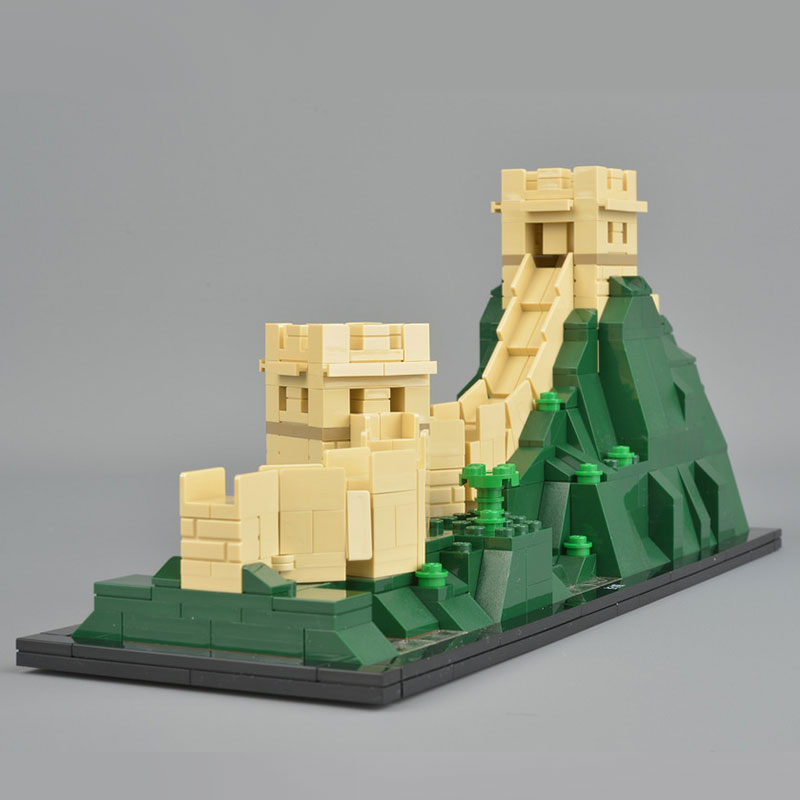 Lepin 17010 New Toys Architecture Series The Legoing 21041 The Great Wall Set Model Building Blocks Bricks Toys For Kids As Gift 2018 new famous architecture series the french arc de triomphe 3d model building blocks classic toys gift