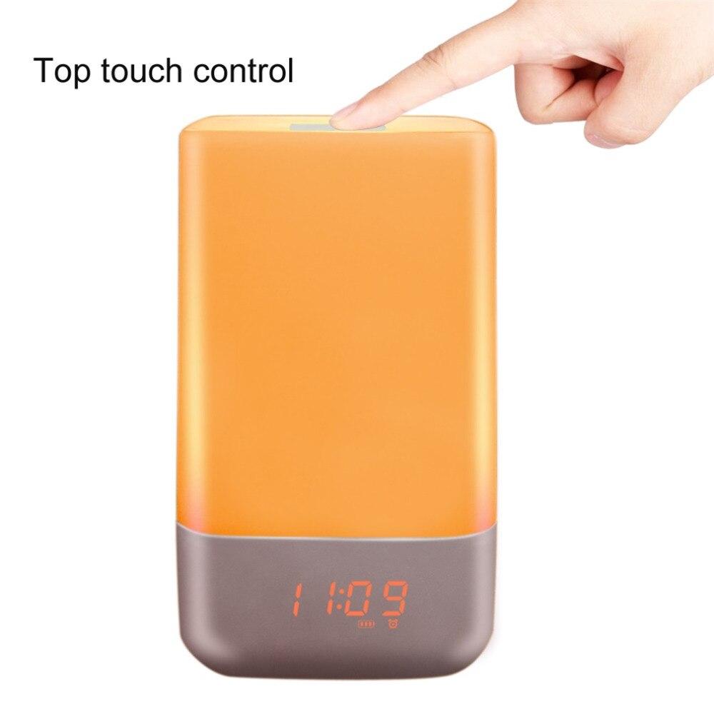 Creative Adjustable 5 Modes Wake Up Light Desktop Sunrise LED Night Light Smart Light Best Gift For Your Children philips hf350570 wake up light световой будильник
