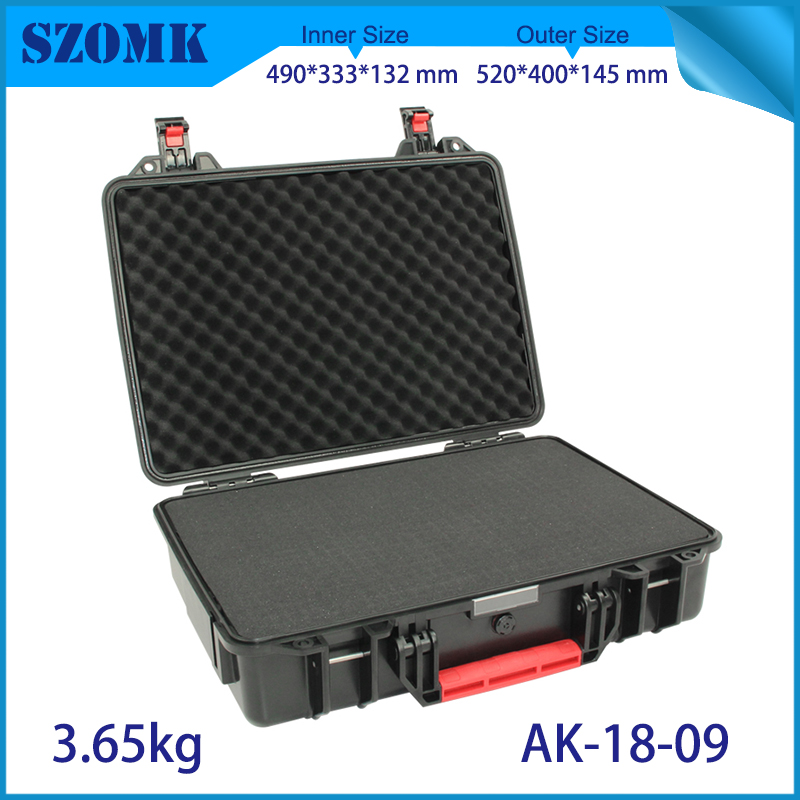 waterproof plastic hard tool carrying case pp and abs weatherproof equipment tool case with Sponge inside 520x400x145mm szomk цены