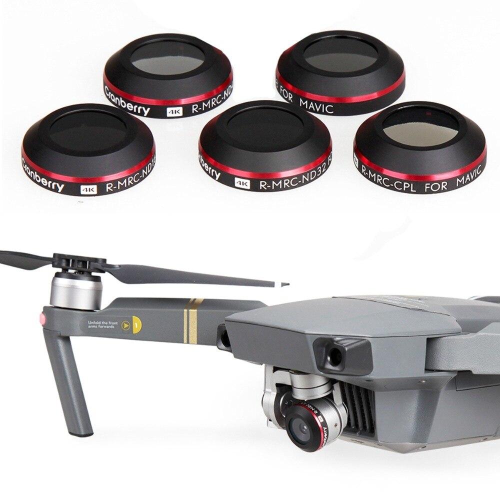 Filtre d'objectif 5 en 1 Ultra léger UV CPL ND4 ND8 ND16 pour DJI Mavic Pro Platinum Drone caméra polariseur densité neutre filtre