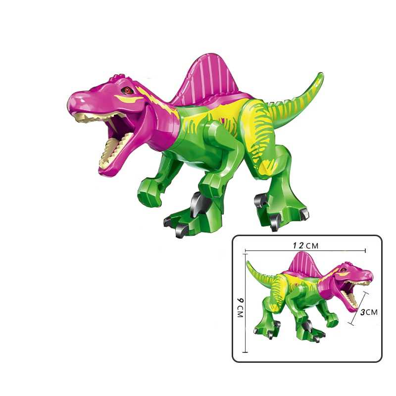 Legoing Animals Jurassic Dinosaurs Rex Dilophosaurus Velociraptor Tyrannosaurus Figures Blocks Toy Movie Legoings Dinosaur 77070