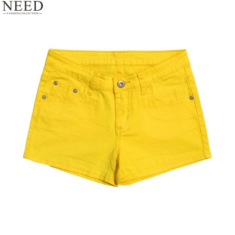 2017 Summer  Denim Shorts Women Cotton Candy Color Short Jeans Sexy Shorts