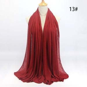 Image 2 - Nuovo hijab Musulmano donne islamiche hijab Musulmano Della Sciarpa Elastica sciarpa in jersey di cotone morbido scialli sciarpe pianura