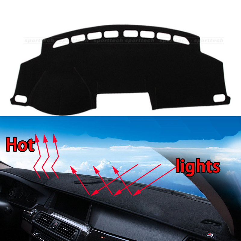 Car dashboard Avoid light pad Instrument platform desk cover Mats Carpets Auto accessories car styling for BYD S6 F3 F3DM F3R dashboard cover