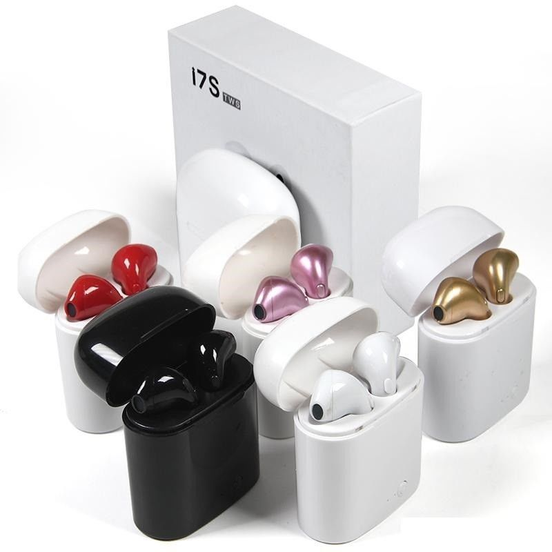 Gusima I7S Wireless Bluetooth Earphone HIFI Wireless Earphones With Charging Box Case