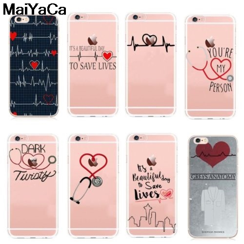 Amiable Maiyaca Nurse Doctor Dentist Greys Anatomy For Iphone 4s 5c 5s 6s Plus X Xr Xs Max Phone Cases Transparent Soft Tpu Cover Cases To Prevent And Cure Diseases Cellphones & Telecommunications Phone Bags & Cases