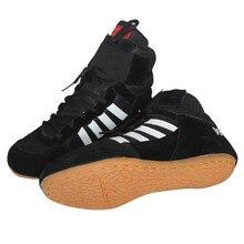 Профессиональная Мужская обувь для борьбы, боксерская обувь, дышащая профессиональная экипировка для борьбы с боевыми тренировками, тренировочные ботинки, размер 35-46