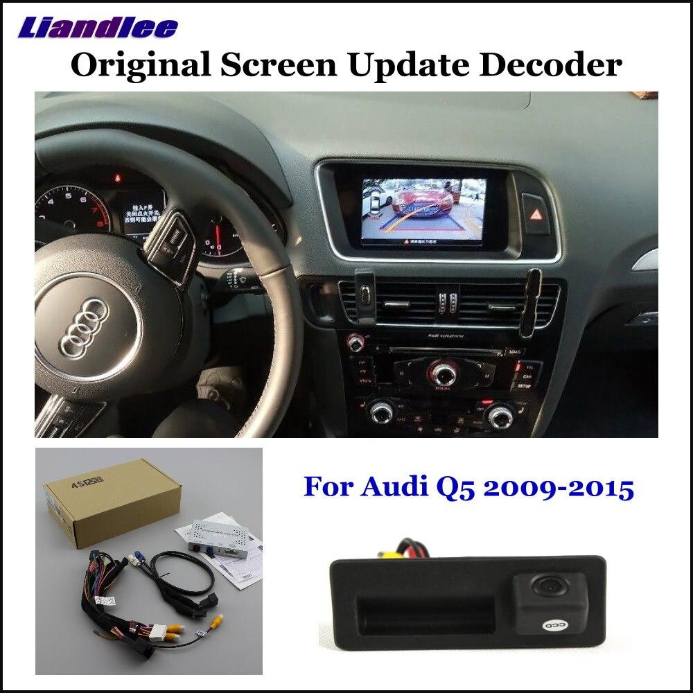Liandlee For Audi Q5 8R Low Original Screen Update System Car Rear Reverse Parking Camera Digital