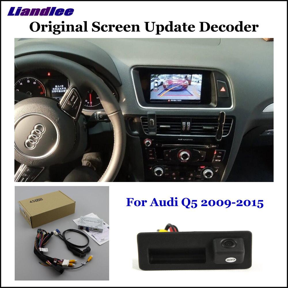 Liandlee Pour Audi Q5 8R (Bas) d'origine Écran Mise À Jour Système + Arrière de Voiture Inverse Parking Caméra/Numérique Décodeur/Arrière caméra