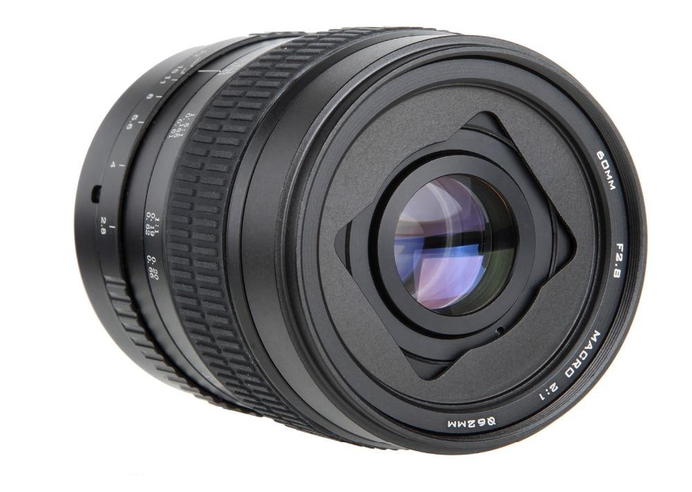 Objectif de mise au point manuelle Super Macro 60mm f/2.8 2:1 pour Canon EOS EF monture 1200d 750D 700D 600D 70D 5DII DSLR