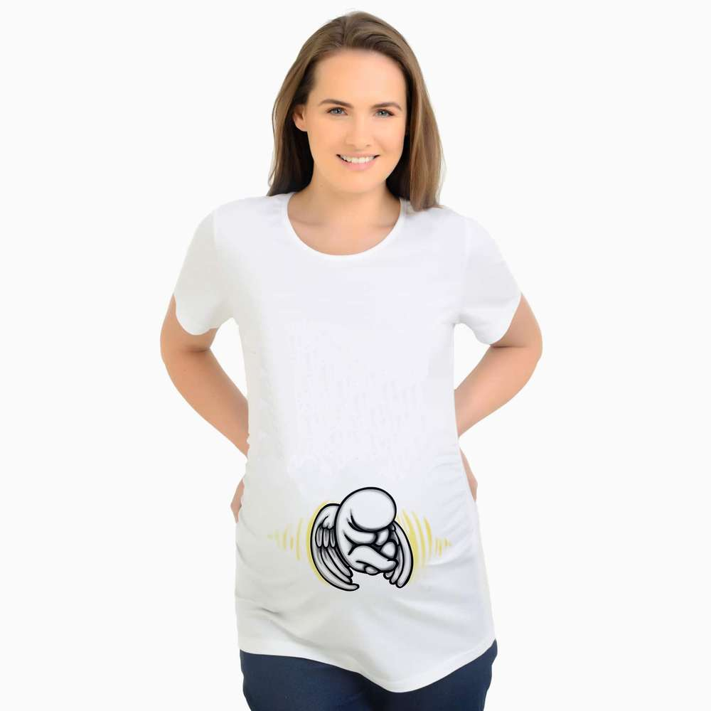 New Maternity Tops Pregnancy T-shirts Cute Angel baby Printed Clothes For Pregnant Women Tee Shirt summer white t for Pregnant