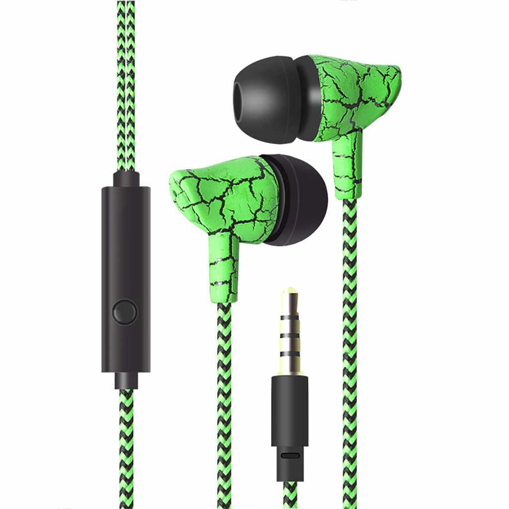 السلكية سماعة الضوضاء عزل في الأذن 3.5 مللي متر الكراك سماعة مع Mic يدوي سماعة ل MP3 MP4 fone دي ouvido ecouteurs #0