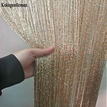 3 #215 2 6m String Curtain Shiny Tassel Line Curtains Window Door Divider Drape Living Room Decor Valance cheap Kekegentleman Perspective Tube Curtain Left and Right Biparting Open Other Ceiling Installation TD074 Yarn Dyed Flat Window