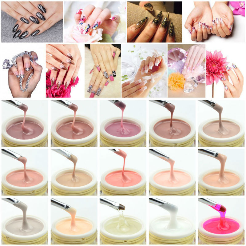 50951 2017 New S Whole Nail Gel Canni Extension Gels Thick Builder Natural Camouflage Uv In Hair Clips Pins From Beauty Health