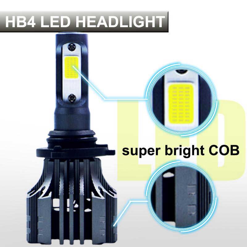 PAMPSEE 9006 HB4 LED Car Headlight Bulbs COB 72W 8000lm 6500K Auto Headlamp Led Light Bulb 12v for Toyota VW Honda Mazda Hyundai
