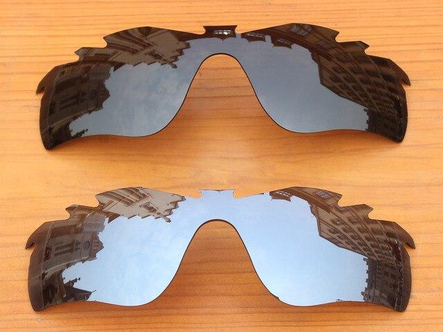 Черный и Серебряный 2 Шт. Поляризованных Вентилируемый Замену Линзы Для RadarLock Путь Солнцезащитные Очки Кадров 100% UVA и UVB Защиты