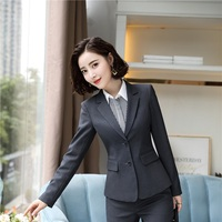 High Quality Fabric Uniform Styles Long Sleeve Jackets Coat Blazers Formal Ladies Office Blazer Coat Female Tops Clothes Outwear